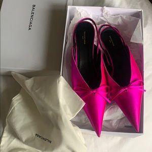 Pink heels balenciaga